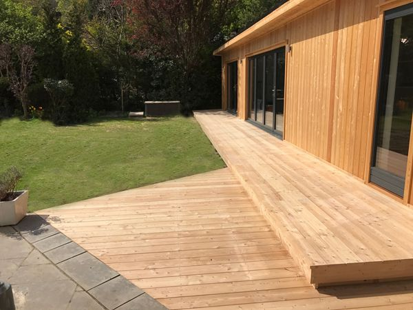 Free decking for new garden room orders in October