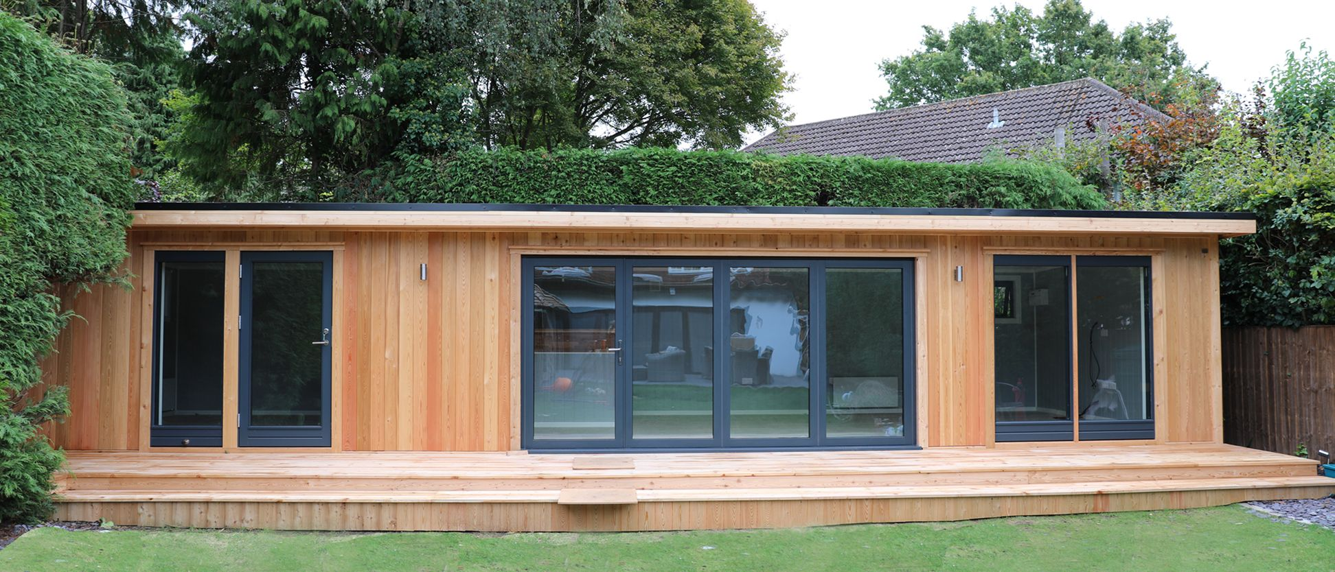Garden room with two internal rooms